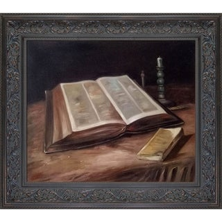 Vincent Van Gogh 'Still Life with Bible' Hand Painted Oil Reproduction