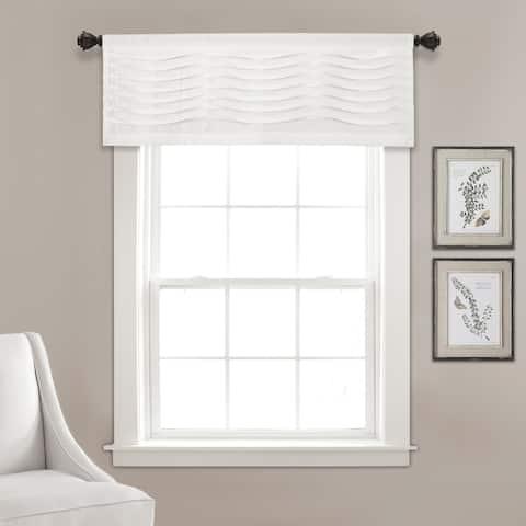"""Porch & Den Kinnaman Wave Texture Window Curtain Valance - 18""""l x 52""""w - 18""""l x 52""""w"""