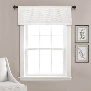 "Lush Decor Wave Texture Window Curtain Valance - 18""l x 52""w"