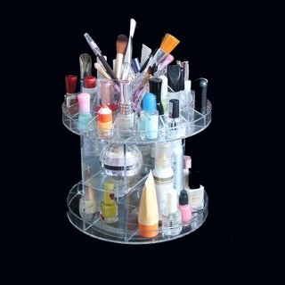 """Deluxe Rotating Acrylic Cosmetic/Makeup Organizer 8.7"""" x 7.9"""""""