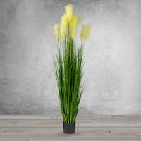 6 Feet High Artificial Reed Grass - Black