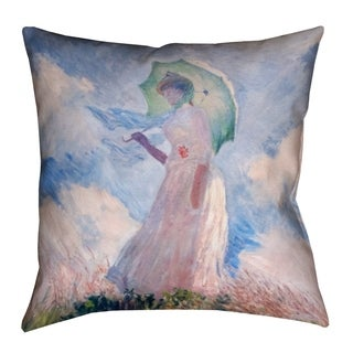 Claude Monet Woman with (Pillow Cover Only) - Faux Linen