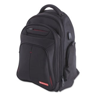 "Purpose 2 Section Business Backpack, Laptops 15.6"", Black"