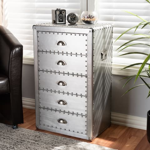 French Industrial 5-Drawer Chest