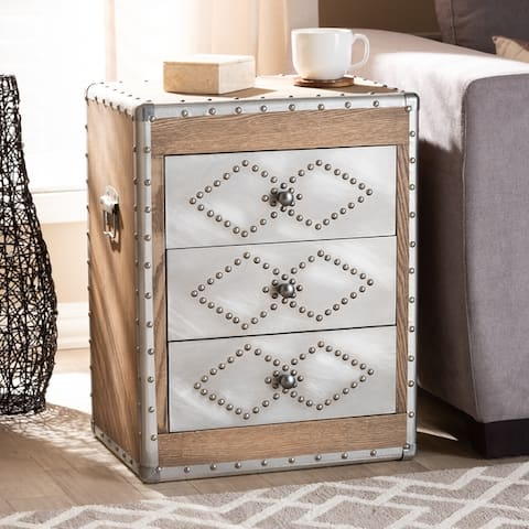 French Industrial 3-Drawer Chest