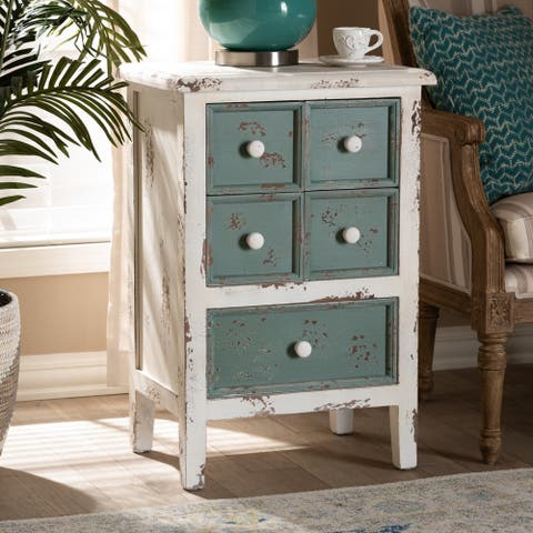 French Country Cottage 5-Drawer Chest