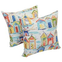 Solarium Baycove Hut 17-inch Indoor/Outdoor Throw Pillows (Set of 2)