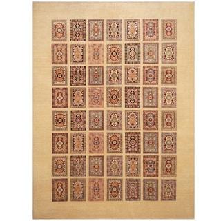 Handmade Vegetable Dye Kazak Wool Rug (Afghanistan) - 8'4 x 11'3