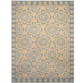 Handmade Vegetable Dye Ikat Wool Rug (Afghanistan) - 9' x 11'7