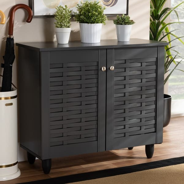 Shop Contemporary Shoe Storage Cabinet On Sale Overstock 26396246