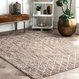 Copper Grove Telfs Geo Trellis Area Rug