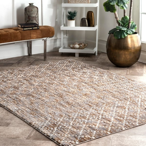 9d7f9fbdc9b Shop nuLOOM Contemporary Modern Mayen Geo Trellis Area Rug - On Sale ...