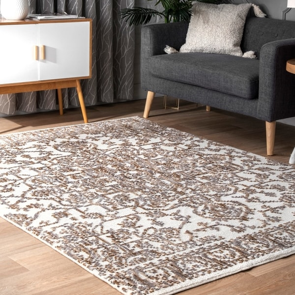 bc25fd9e285 Shop nuLOOM Transitional Vintage Lavish Mayen Medallion Area Rug ...