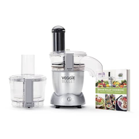 Veggie Bullet VBR-1001 Electric Spiralizer & Food Processor, Silver