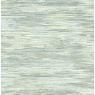 Silverton Faux Grasscloth Wallpaper In Teal Metallic Gold