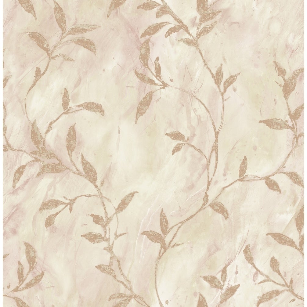 Shop Wheatstone Leaves Leaf Wallpaper In Light Brown Off White