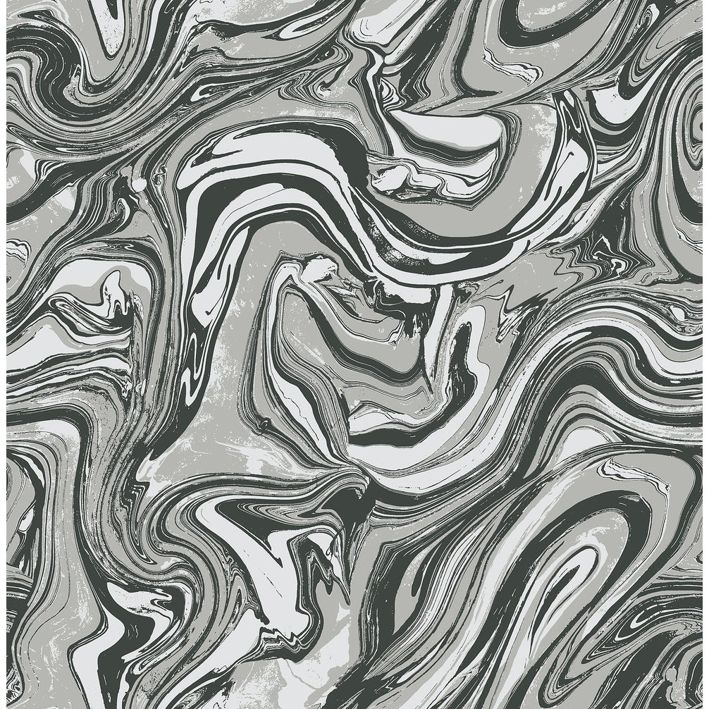Mindy Marble Wallpaper In Black Gray White