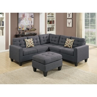 Sectional with Ottoman-Gray