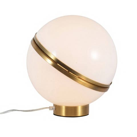 Gold Metal With White Acrylic Frame Table Lamp