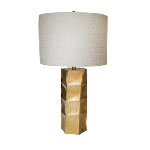 Polyrensin Table Lamp In A Gold Leaf Finish