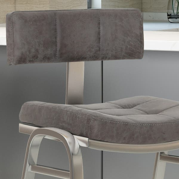 Enjoyable Shop Batz 25 5 In Microfiber Counter Stool By Christopher Machost Co Dining Chair Design Ideas Machostcouk