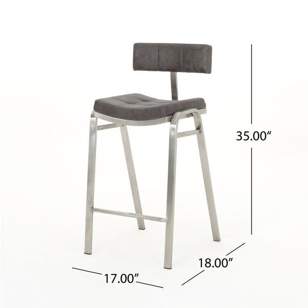 Outstanding Shop Batz 25 5 In Microfiber Counter Stool By Christopher Machost Co Dining Chair Design Ideas Machostcouk