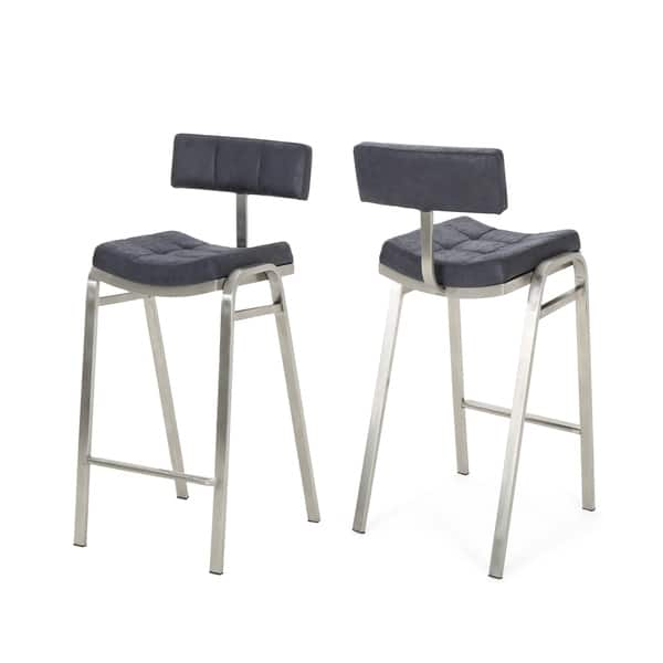 Magnificent Shop Batz 25 5 In Microfiber Counter Stool By Christopher Machost Co Dining Chair Design Ideas Machostcouk
