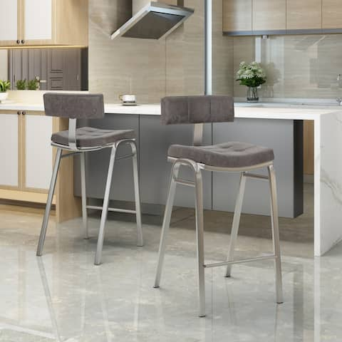 Fabulous Buy Microfiber Counter Bar Stools Online At Overstock Unemploymentrelief Wooden Chair Designs For Living Room Unemploymentrelieforg