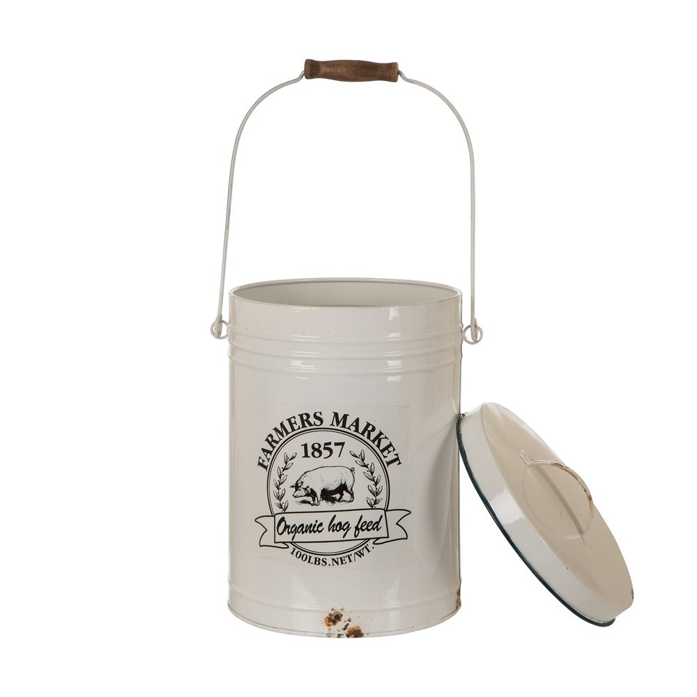 Farmhouse Metal Enamel Canister