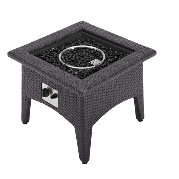 Shop Vivacity Outdoor Patio Fire Pit Table N A Free Shipping