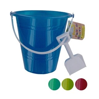 Bulk Buys Translucent Glitter Sand Pail with Shovel - 24 Pack - N/A
