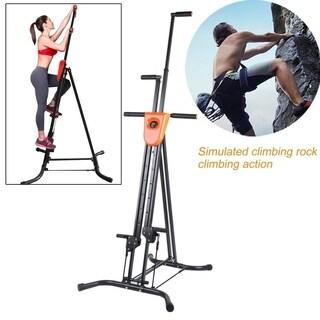 Vertical Climbing Machine Foldable Exercise Training Cardio Stepper