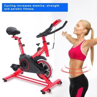 Indoor Pedal Exercise Bicycle Fitness Bike - red