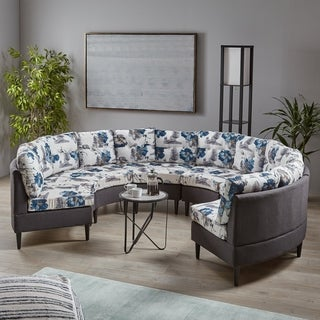 Jazmine Contemporary 6-Seat Modular Fabri Sectional Sofa by Christopher Knight Home