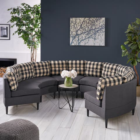 Jazmine Fabric Sectional by Christopher Knight Home