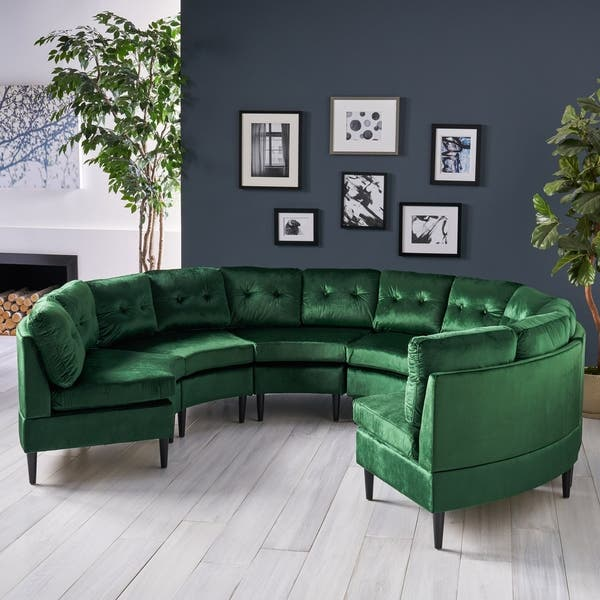 Fantastic Shop Jazmine Glam 6 Seat Modular Velvet Sectional Sofa By Spiritservingveterans Wood Chair Design Ideas Spiritservingveteransorg