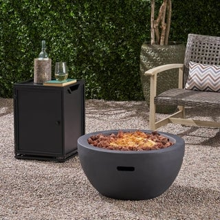 """Marcel Outdoor 27"""" Bowl Shaped Fire Pit by Christopher Knight Home"""