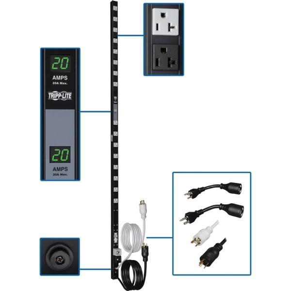 Tripp Lite PDU Metered Dual Circuit 120V 20A 32 5-15/20R Vertical 0UR