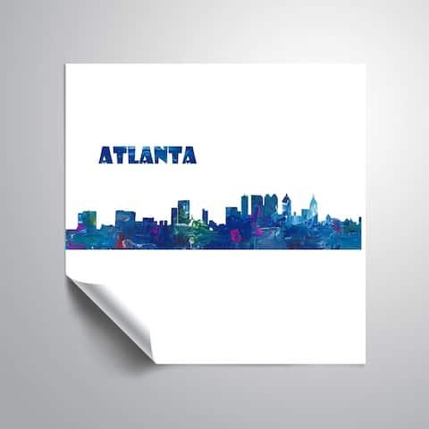 ArtWall Markus/Martina Bleichner 'Atlanta Skyline Scissor Cut Q Foreground' Removable Wall Art