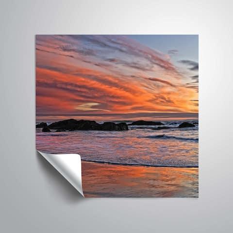 ArtWall Daniel Stein 'Calm Sunset Waves' Removable Wall Art