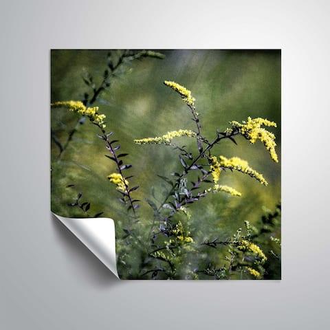 ArtWall Richard James 'Yellow Flowers Purple Stems' Removable Wall Art