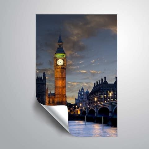 ArtWall Daniel Stein 'Big Ben Sunset' Removable Wall Art