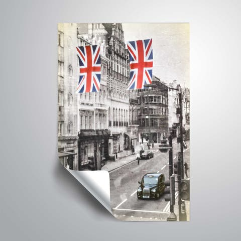 ArtWall Daniel Stein 'London Street Scene' Removable Wall Art
