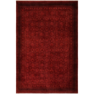 """Overdyed Color Reform Mao Red/Red Hand-knotted Wool Rug - 9'1 x 11'7 - 9'1"""" x 11'7"""""""