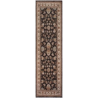 "Ziegler Peshawar Morton Gray/Ivory Hand-knotted Wool Rug - 2'8 x 7'9 - 2'8"" x 7'9"""