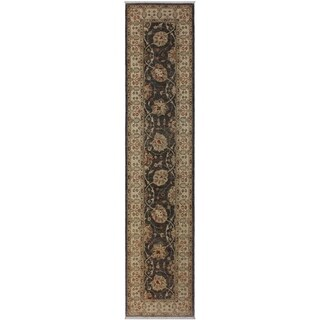 "Ziegler Peshawar Jama Gray/Beige Hand-knotted Wool Rug - 2'6 x 10'8 - 2'6"" x 10'8"""