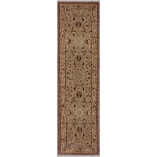 "Ziegler Peshawar Amparo Tan/Rust Hand-knotted Wool Rug - 2'6 x 9'10 - 2'6"" x 9'10"""