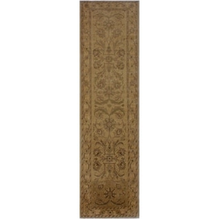 "Ziegler Sun-Faded Casandra Tan/Brown Hand-knotted Wool Rug - 3'0 x 9'11 - 3'0"" x 9'11"""