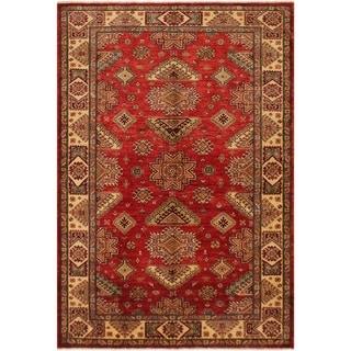 "Super Kazak Lanora Red/Gold Hand-knotted Wool Rug - 5'9 x 7'10 - 5'9"" x 7'10"""