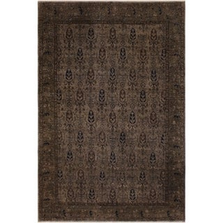 """Overdyed Color Reform Arturo Gray/Gray Hand-knotted Wool Rug - 7'8 x 9'5 - 7'8"""" x 9'5"""""""